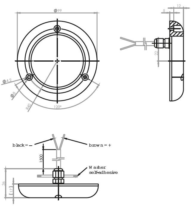 Aqua Signal -DIONE- LED su altı aydınlatma lambası