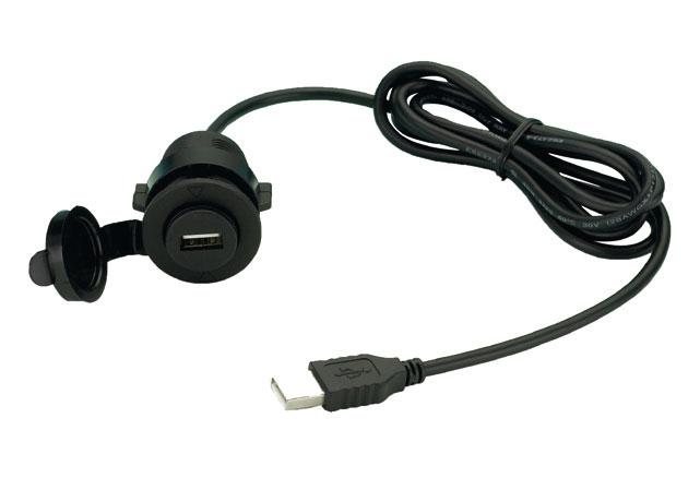 USB 2.0 koruyucu kapaklı uzatma kablosu