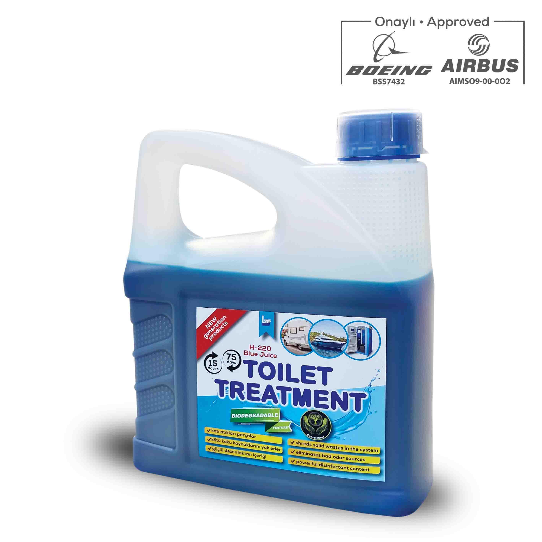 AKBA Kimya H-220 Konsantre Portatif Tuvalet Kimyasalı (Mavi Su) 3L